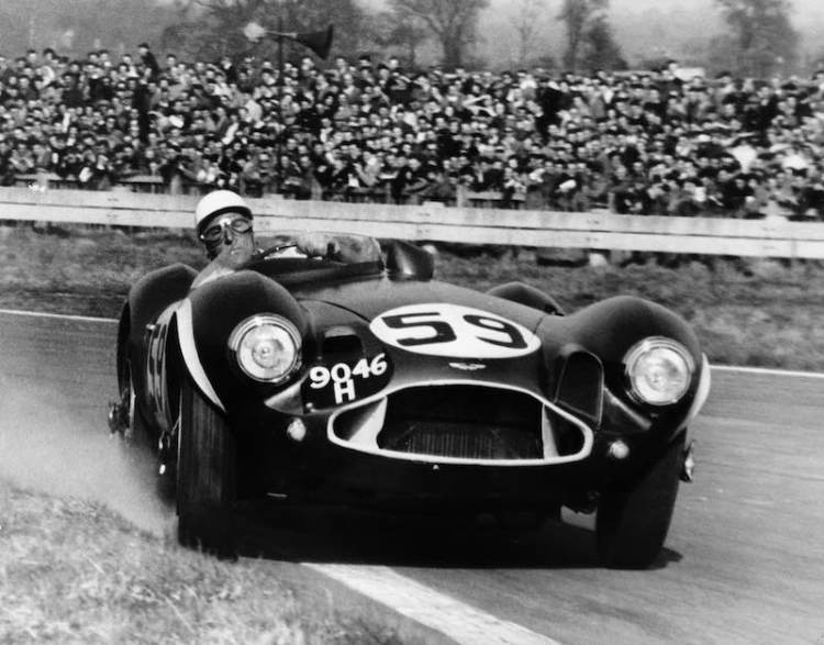Stirling Moss in the Aston Martin DB3S at Goodwood (photo: National Motor Museum)