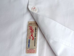Attention to deal abounds, like the tag shown here on the Angouleme crew shirt.