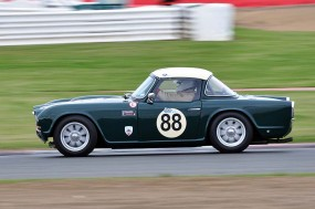 Triumph TR4 of Andy Somerville - 1st in Class B3