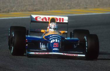 1992 Portuguese Grand Prix. Estoril, Portugal. 25-27 September 1992. Nigel Mansell (Williams FW14B Renault) 1st position. Ref-92 POR 08. World Copyright - LAT Photographic