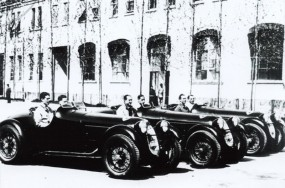 The Alfa Romeo team before the start of the 1936 Mille Miglia. Photo - Alfa Romeo