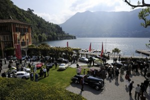 View from above and beyond the 2009 Concorso d'Eleganza Villa d'Este
