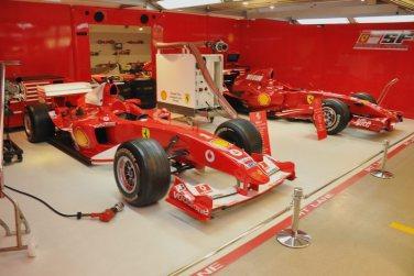 2004 Ferrari F1 and 2007 Ferrari F1 (right)