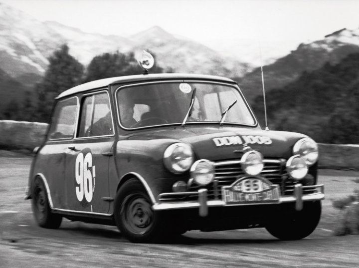 Mini Cooper at 1965 Rallye Monte Carlo