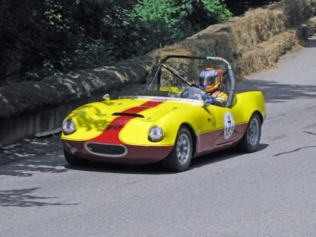 Second place went to Stefan Wiesen driving a 1963 Elva Courier Coupe