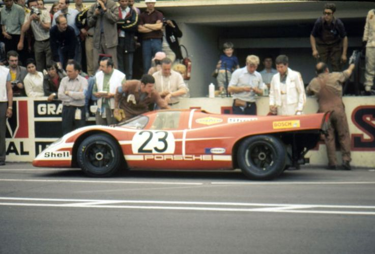 Salzburg Porsche 917 of Hans Herrmann and Richard Attwood won the 1970 Le Mans 24 Hours