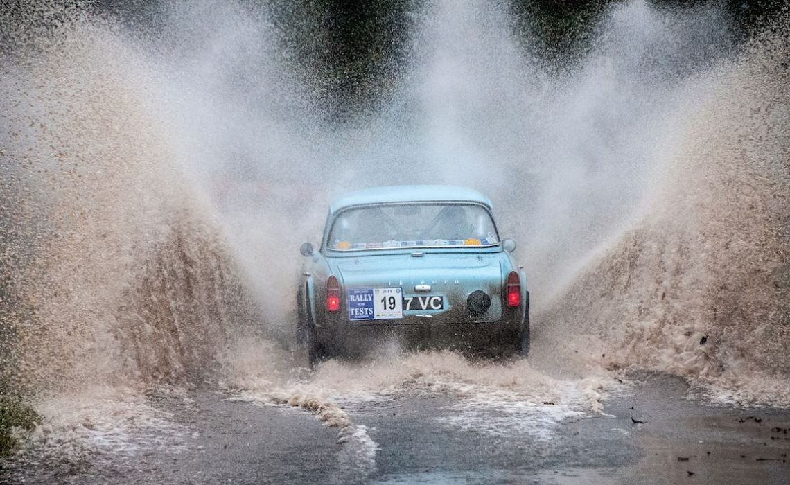 1962 Triumph TR4 goes for a splash