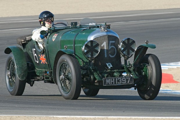 Bruce McCaw - 1924 Bentley 4 1/2 Liter. This combination through turn one Andretti Hairpin was great fun to watch