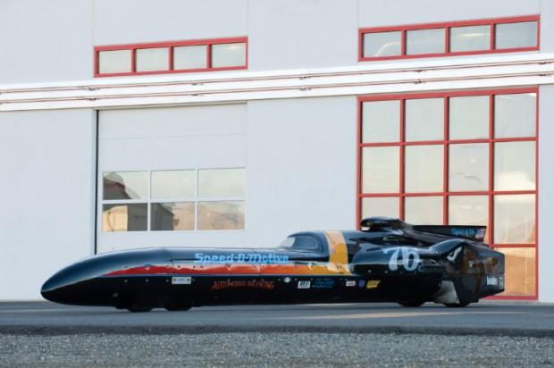<strong>Spirit of '76 Bonneville Streamliner - Estimate $150,000 - $200,000.</strong> Al Teague created and driven to a two-way average of 409.978 mph at Bonneville, which is still current record in FIA Category A1, Group I, Class 11.