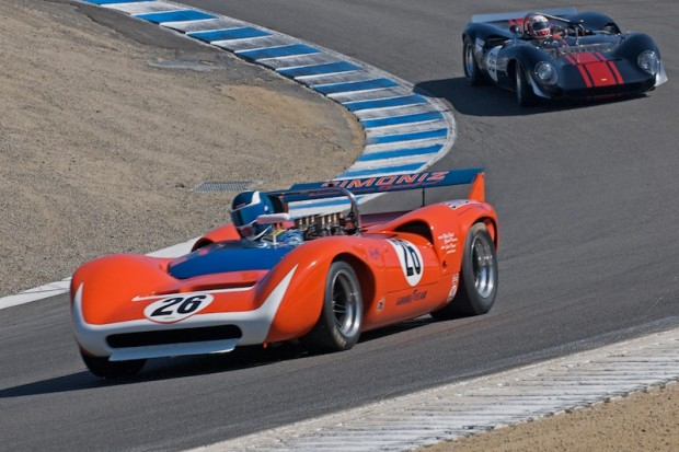 Steve Hilton in the Corkscrew - 1968 Lola T70 MK III