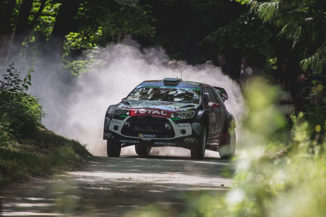 Some opposite-lock from Kris Meeke in the Citroen DS3