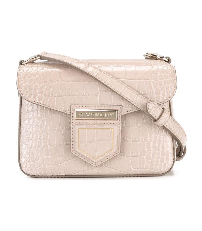 Givenchy Pink Crocodile Effect 'Nobile' Shoulder Bag $810