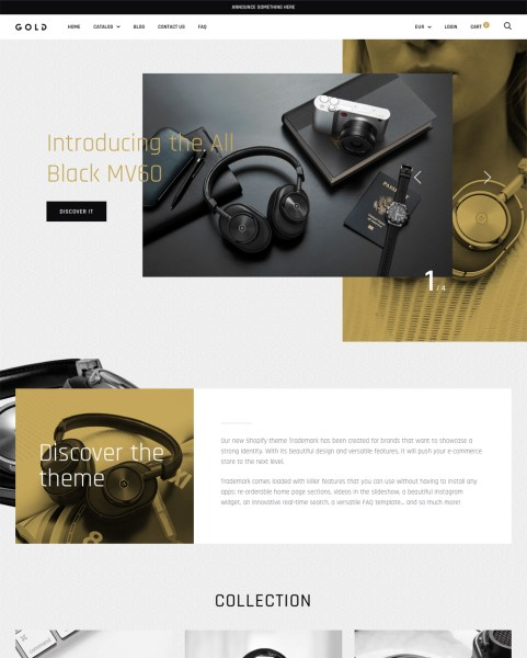Gold Theme   Trademark Ecommerce Website Template