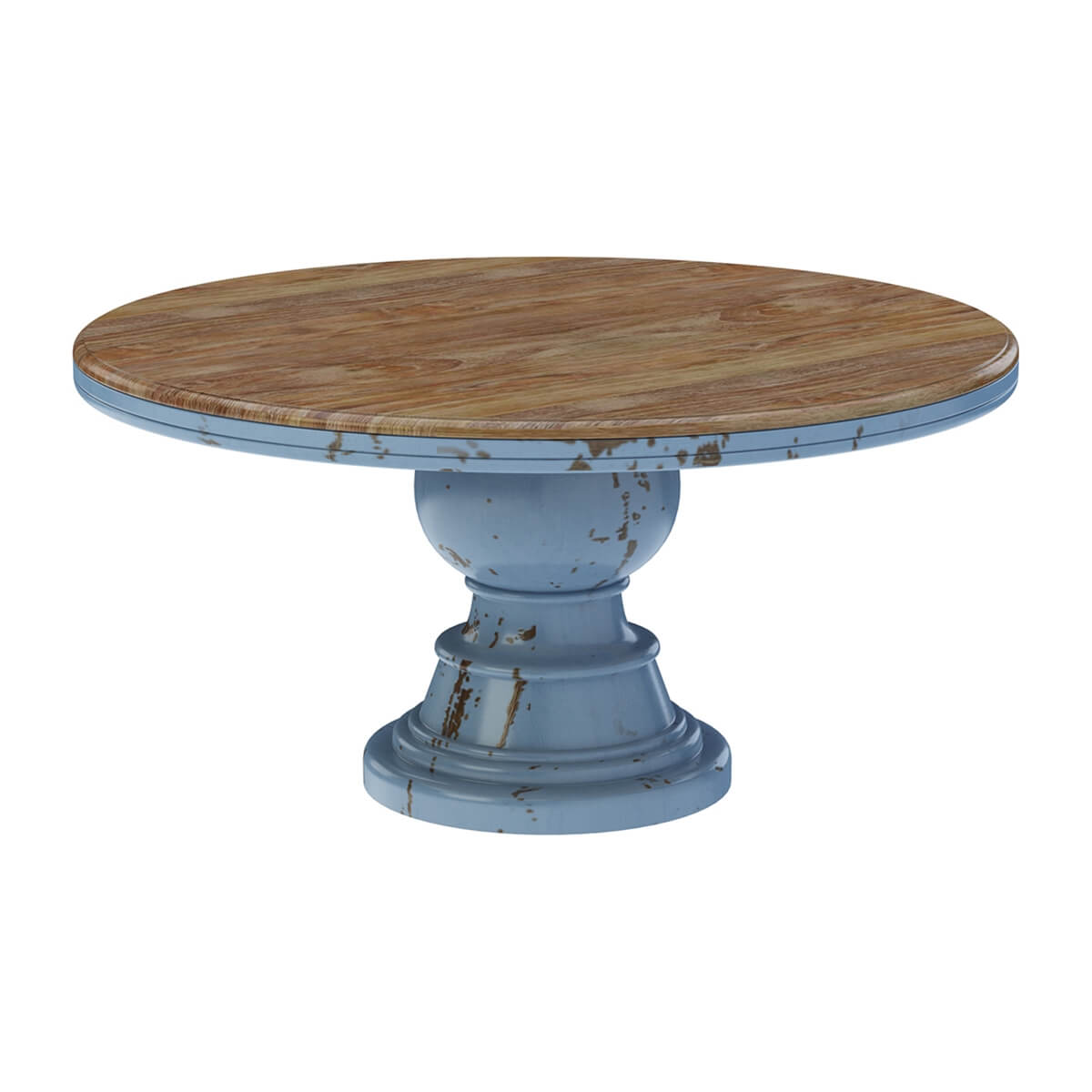 Nauvoo Farmhouse Solid Wood Pedestal Round Dining Table Chair Set