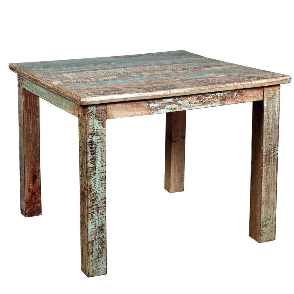 Rustic Reclaimed Wood Distressed Small Kitchen Dining Table