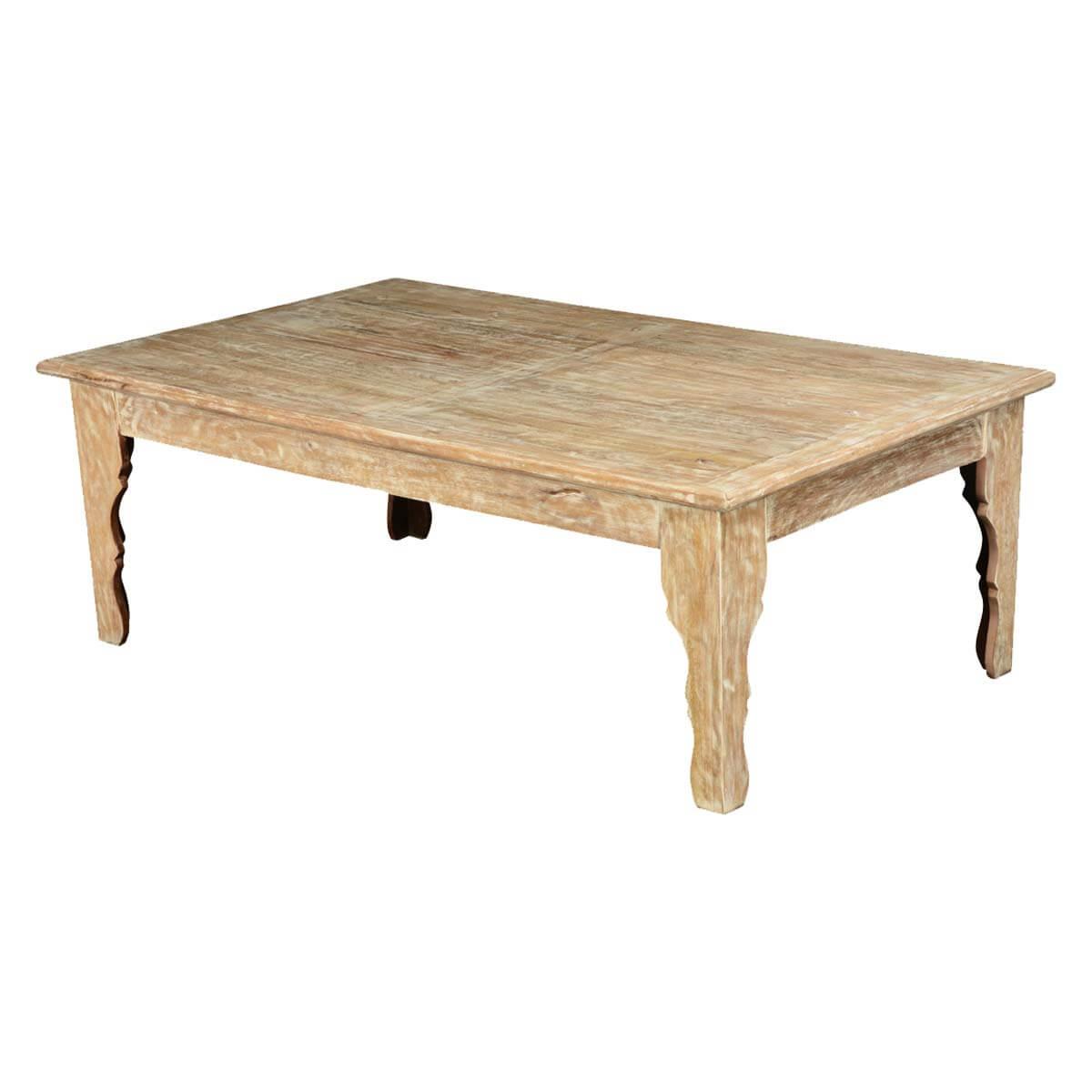 winter white mango wood rustic coffee table