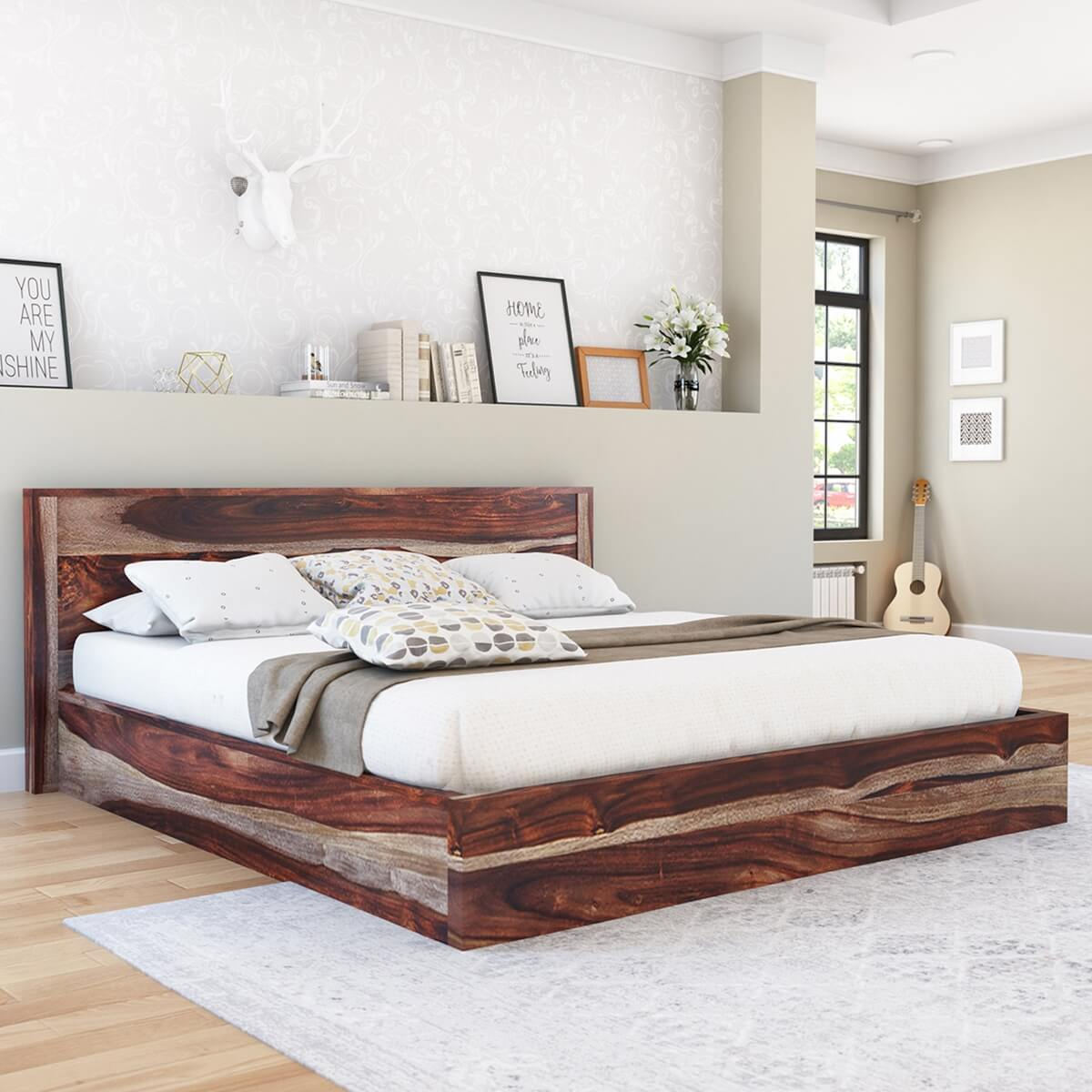 jamaica rustic solid wood handcrafted platform bed
