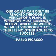 Image result for your goals can only be reached through a vehicle of a plan
