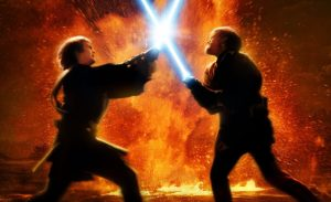 It's no coincidence that the painful conflict between two friends took place among the fires of a volcanic planet in Star Wars, Episode III.