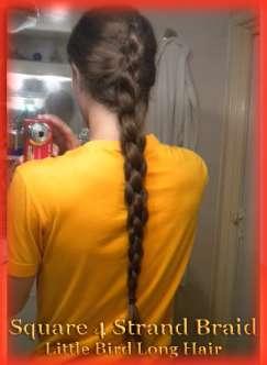Women's Hairstyles - 4 Strand Braid