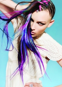 Women's Hairstyles - Bold Colors - Peek-a-boo
