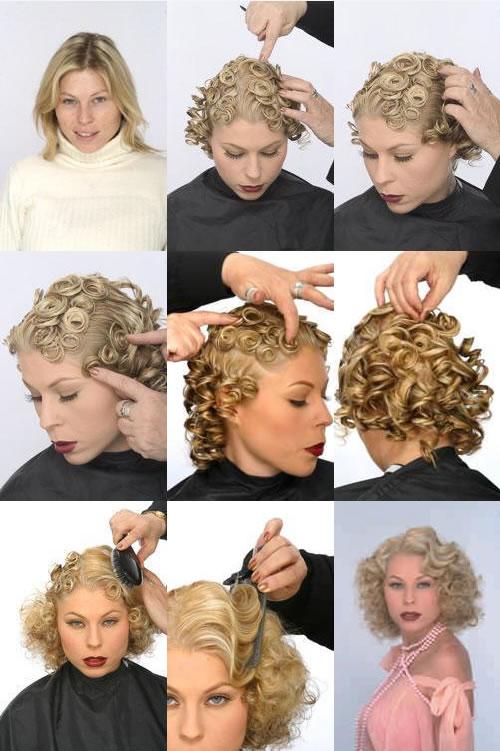 Women's Hairstyles - Pin Curls