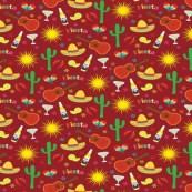 Mexican Fiesta Fabric Wallpaper Gift Wrap Spoonflower