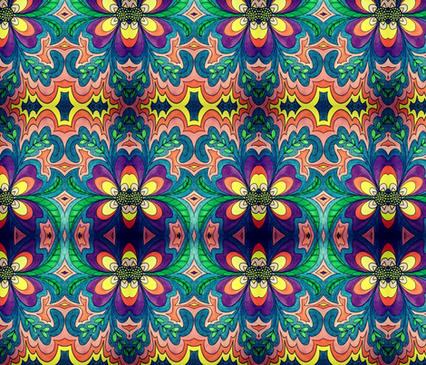 olivia_mirrored fabric by taylorsteele on Spoonflower - custom fabric