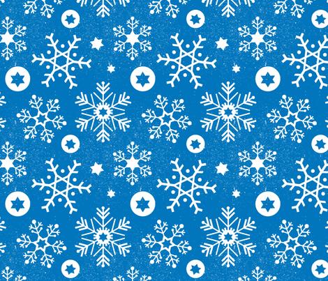 Hanukkah Snowflakes (Sky)