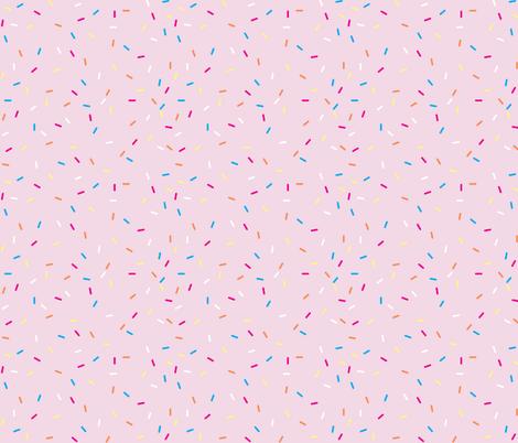 Pink Ice Cream Sprinkles Wallpaper Draytonld Spoonflower
