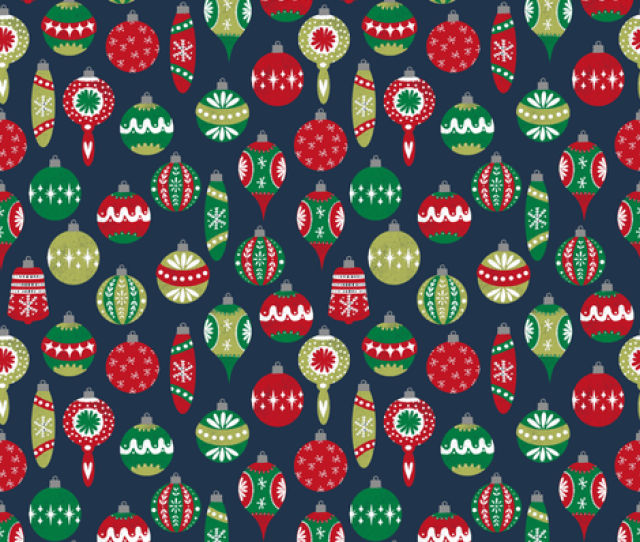 Vintage Christmas Ornaments Fabric Retro Christmas Fabric Cute Red And Green Fabrics Andrea Lauren