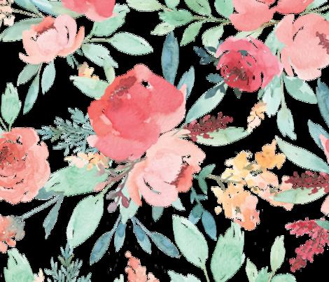 Large Watercolor Flowers Wallpaper Taylorbatescreative