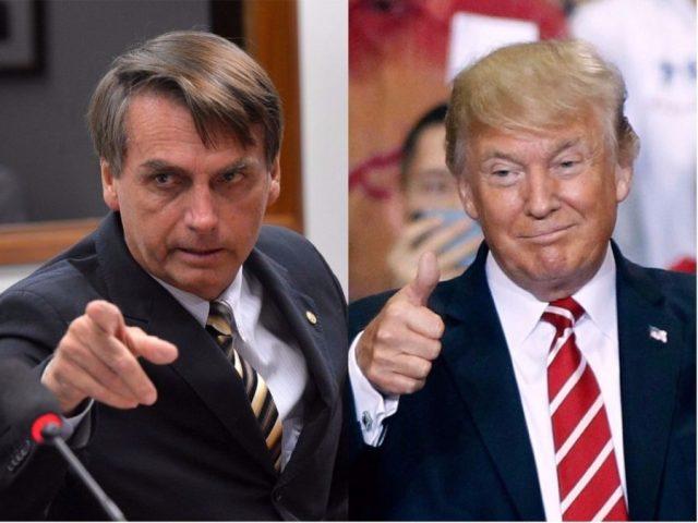 Jair Bolsonaro, presidente do Brasil, e Donald Trump, presidente dos EUA.