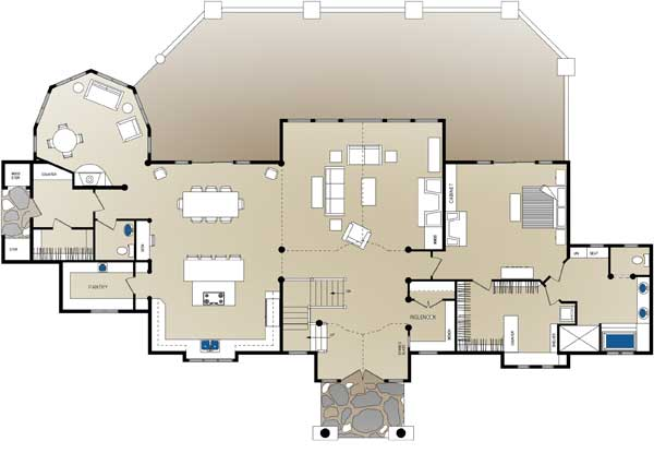 Jackson Log Home Floor Plan By Wisconsin Log Homes