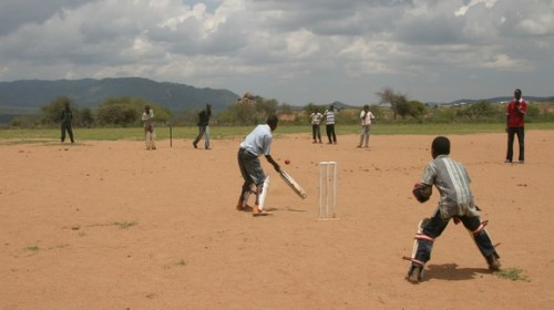 The Children In Action At Il Polei Primary School