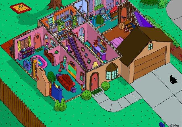 La casa de los simpsons planta alta