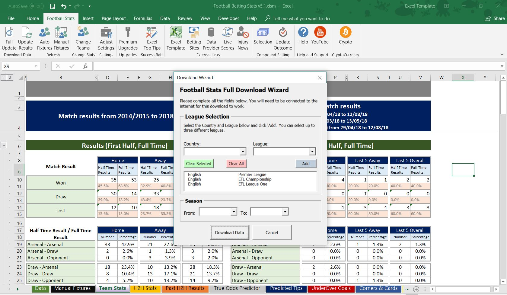 Football Soccer Betting Odd Software Microsoft Excel