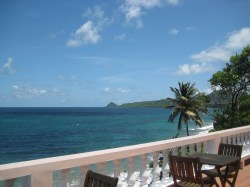 View at Petite Anse Restaurant