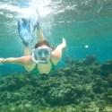 Stefanie snorkeling