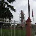 The Hanuman Statue - unfortunately under renovation.