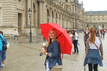 Caroline and her Umbrella