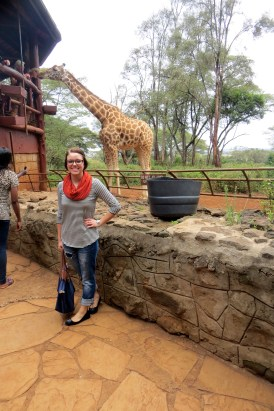 With my best friend the giraffe