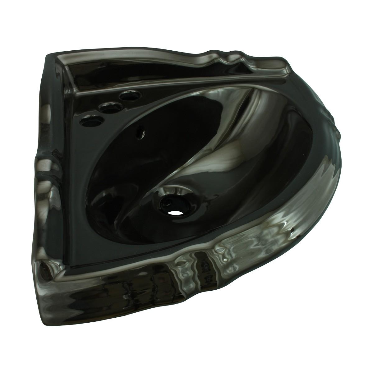 Bathroom Corner Vessel Sink Black China Sheffield Basin Only