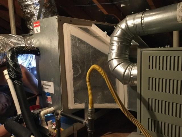 Mont Belvieu, TX - Replacing primary drain pan on a trane evaporator coil