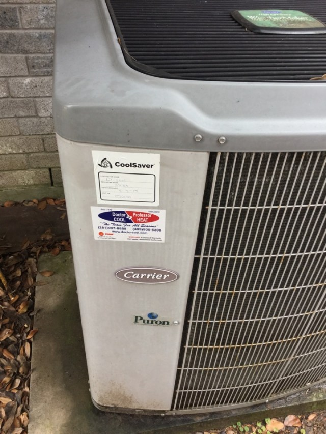 Alvin, TX - Ac tune up on carrier unit everything cleaned and running good at this time