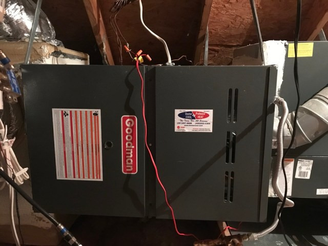 Pearland, TX - Fall heater inspection on a Goodman comfort system.