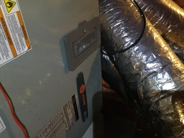 Webster, TX - I'm performing a air-conditioning maintenance on a Trane unit. Maintenancingthe unit to prevent a no cool situation. Checking andservicing the outdoor and indoor components to prevent the unit fromrunning excessively long and not cooling.Cleaning and sanitizing the drain lines to prevent excessive water leakage or adrain clog or excessive drip of water flow from the drain line.