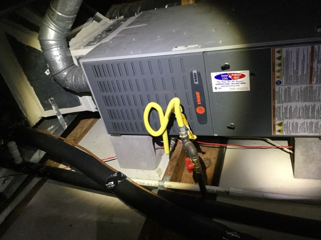 Houston, TX - I'm at a residence performing a air-conditioning maintenance on 2 units, checking the thermostats and performing a heating tuneup to avoid a service call.  I'm also checking for any plumbing repair that might be needed.  I'm doing my best to give the customer a proper AC tuneup.