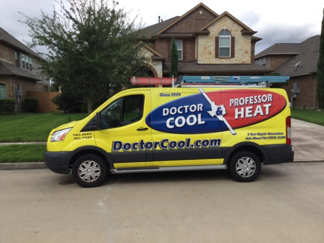League City, TX - Ac service call. Performed diagnostic and found refrigerant leaking from the outdoor unit. Gave customer repair and replacement options of which he and his wife will consider