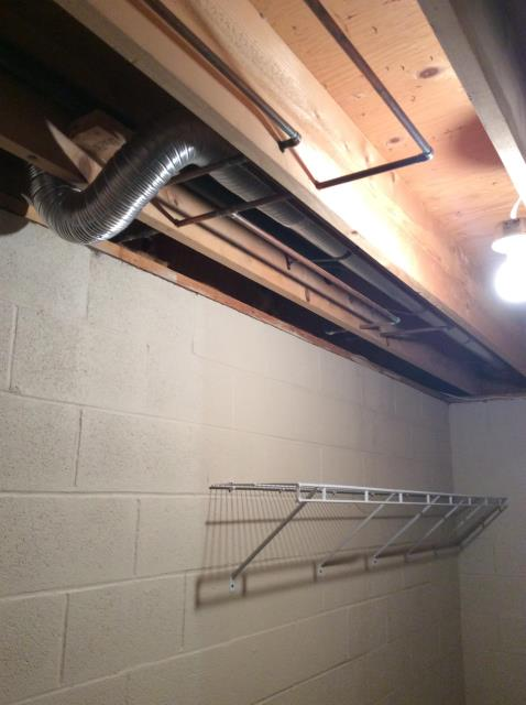 Youngstown, OH - A great job on dryer venting in a customer's basement!